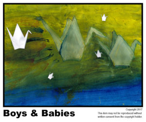 Boys & Babies - $40	T#3<br> Tempera<br> Traditional - 18 x 24 in