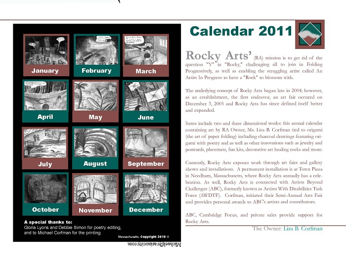 Back of 2011 calendar