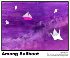 Among Sailboat - $40	T#4<br> Tempera<br> Traditional - 18 x 24 in.