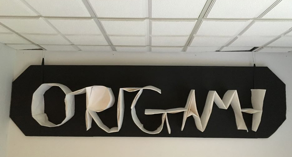 Image of the folded word ORIGAMI