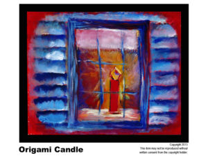 Candle - $295	#65<br> Acrylic on Stretched Canvas<br> Lisa B. Corfman - 16 x 20 in.