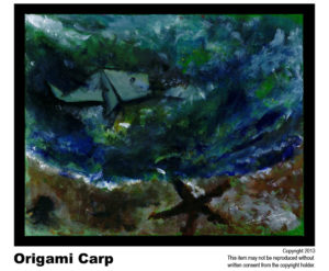 Carp - $195	#24<BR> Acrylic on Stretched Canvas<BR> Traditional - 16 x 20 in