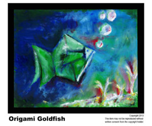 Goldfish - SOLD  #7<br> Acrylic on Stretched Canvas<br> Traditional - 16 x 20 in.