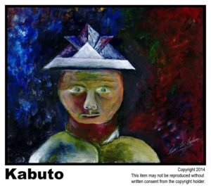 Kabuto - $145	#15<br> Acrylic on Stretched Canvas<br> Traditional - 16 x 20 in