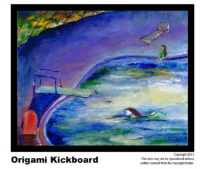 Kickboard - $295	#72 <br>Acrylic on Stretched Canvas<br> Lisa B. Corfman - 16 x 20