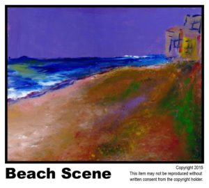 Non-Tulip Beach Scene - Draft covered.	#70<br> Acrylic on Stretched Canvas<br> N/A