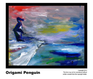 Penguin - $195  #16 <br>Acrylic on Stretched Canvas<br> Traditional - 16 x 20 in.
