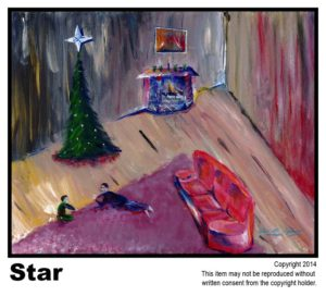 Star - $295  #41<br> Acrylic on Stretched Canvas<br> Nick Robinson - 16 x 20 in.