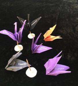 Paper Crane Variety with Mini-Stands