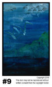 Blue Lake - $30  T#9<br> Tempera<br> Traditional - 11 x 17 in.