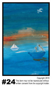 Boats On Water - $30	T#24<br> Tempera<br> Traditional - 11 x 17 in.