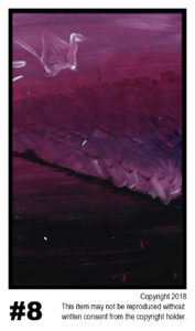 Pink Horizon - $30	T#8<br> Tempera<br> Traditional - 11 x 17 in.