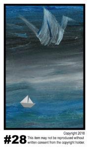 Crane Far Above - $30T#28<br> Tempera<br> Traditional - 11 x 17 in.