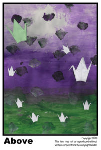 Above Green+Purple - Gifted	T#13<br> Tempera<br> Traditional - 18 x 24 in.