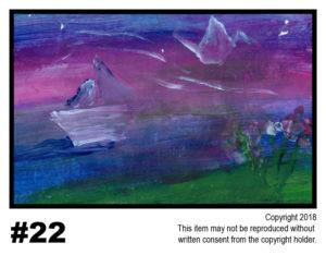 Dusk Scene - $30T#22<br> Tempera<br> Traditional - 11 x 17 in.