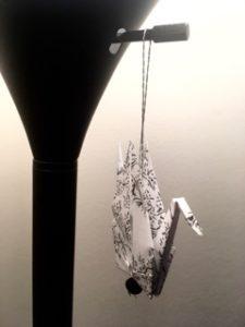 Paper crane ornament