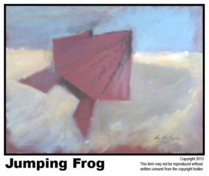 Amer. Jumping Frog - SOLD #11.  Acrylic on Stretched Canvas.  Traditional - 16 x 20 in.