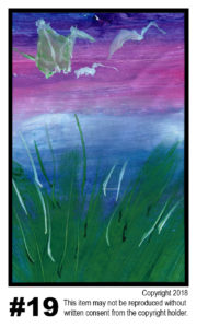 Sunrise With Cranes 2 - $30	T#19 Tempera Traditional - 11 x 17 in.