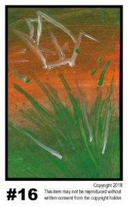 Sunset With Crane 4 - $30	T#16<br> Tempera<br> Traditional - 11 x 17 in.