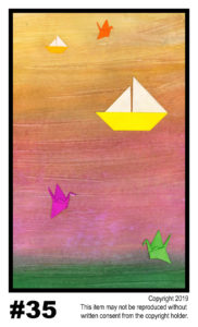 Flutter, Float - $30	T#35<br> Tempera<br> Traditional - 11 x 17 in.