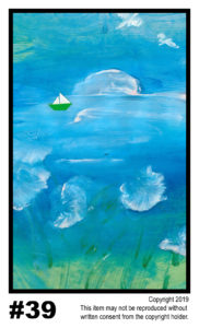 Blue Afternoon - $30	T#39<br> Tempera<br> Traditional - 11 x 17 in.