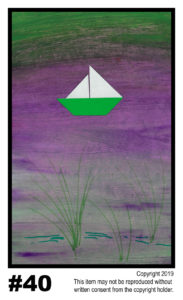 Bay Sailing - $30	T#40<br> Tempera<br> Traditional - 11 x 17 in.