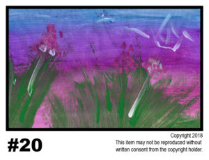 Water With Crane - $30	T#20<br> Tempera<br> Traditional - 11 x 17 in.