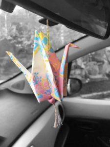 Car mirror ornament