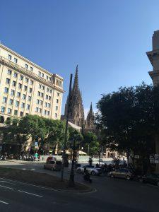 Sagrada Familia in the Distance