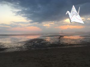 Sunset with Crane 2