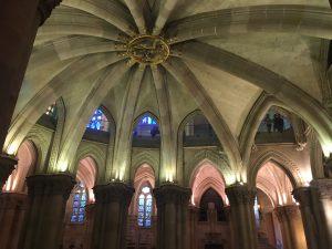 Sagrada Familia Crypt Ceiling