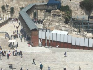 Kotel view from Aish
