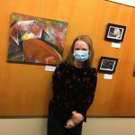 Artist at her Emerson Hospital exhibition